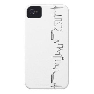 Amo Pittsburgh en un estilo extraordinario del ecg Case-Mate iPhone 4 Cárcasa