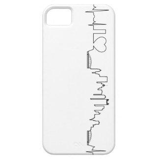 Amo Pittsburgh en un estilo extraordinario del ecg iPhone 5 Case-Mate Carcasa