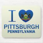 Amo Pittsburgh, PA Tapetes De Ratón