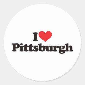 Amo Pittsburgh Pegatina Redonda