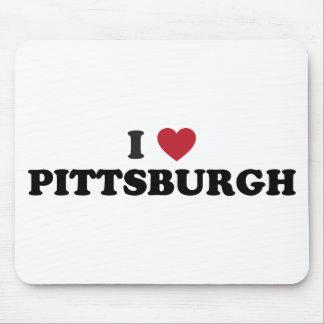 Amo Pittsburgh Pennsylvania Alfombrillas De Raton