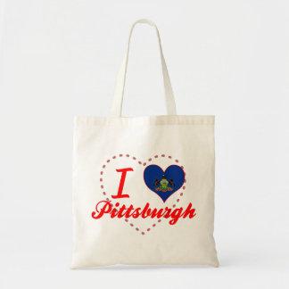 Amo Pittsburgh, Pennsylvania Bolsa Tela Barata