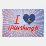 Amo Pittsburgh, Pennsylvania Toallas De Mano