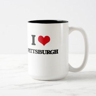 Amo Pittsburgh Taza De Dos Tonos