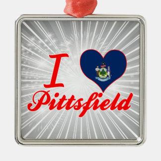 Amo Pittsfield, Maine Ornamento Para Arbol De Navidad