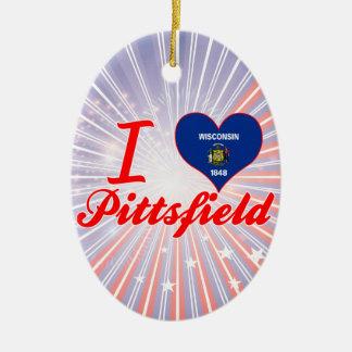 Amo Pittsfield, Wisconsin Ornamento Para Arbol De Navidad