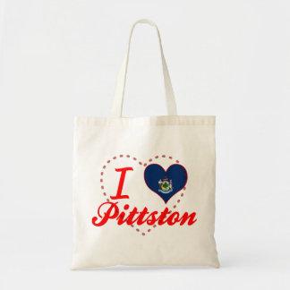 Amo Pittston, Maine Bolsa Tela Barata
