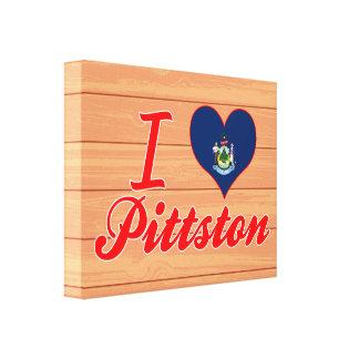 Amo Pittston, Maine Impresion En Lona