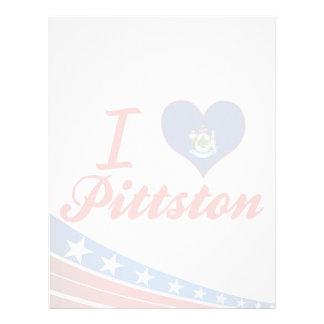 Amo Pittston, Maine Membrete A Diseño