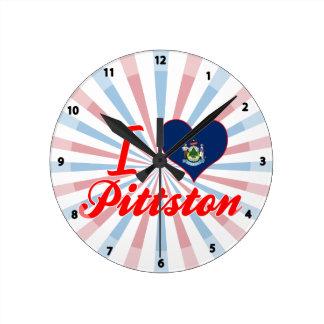 Amo Pittston, Maine Reloj Redondo Mediano