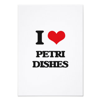 Amo placas de Petri Invitación 12,7 X 17,8 Cm