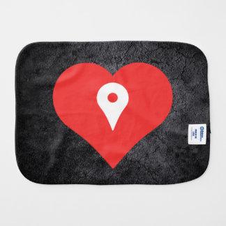 Amo Placeholders del mapa Paños Para Bebé