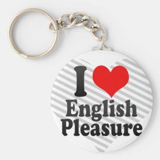 Amo placer inglés llaveros