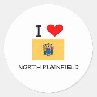 Amo Plainfield del norte New Jersey Pegatina Redonda