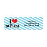 Amo plantar etiquetas de remite