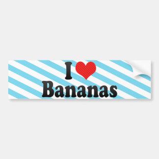 Amo plátanos pegatina de parachoque