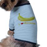 Amo plátanos camisetas de perrito