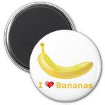 Amo plátanos imanes para frigoríficos