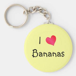 Amo plátanos llavero personalizado