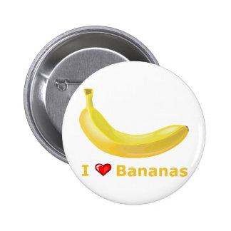 Amo plátanos pin redondo 5 cm