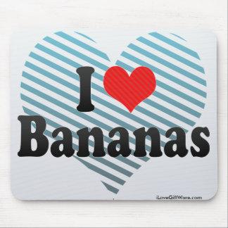 Amo plátanos tapete de raton
