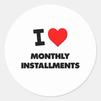 Amo plazos mensuales etiqueta