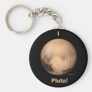 Amo Plutón Llavero Redondo Tipo Pin