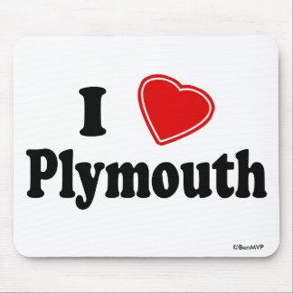Amo Plymouth Alfombrilla De Raton