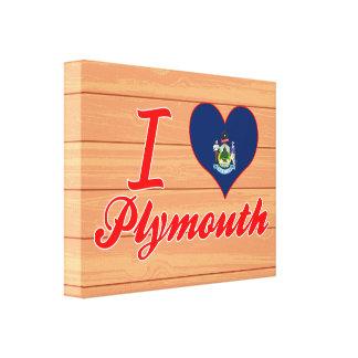 Amo Plymouth, Maine Impresión De Lienzo