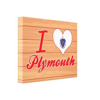 Amo Plymouth, Massachusetts Impresiones De Lienzo