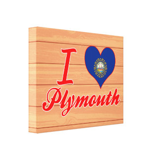 Amo Plymouth, New Hampshire Impresión En Lienzo Estirada