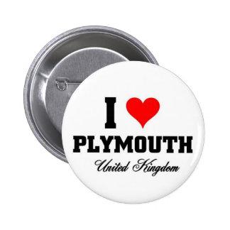 Amo Plymouth, Reino Unido Pins