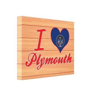 Amo Plymouth, Utah Lienzo Envuelto Para Galerias
