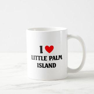 Amo poca isla de palma taza de café