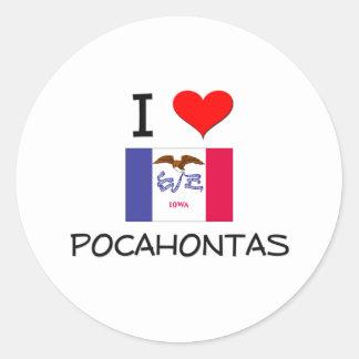 Amo POCAHONTAS Iowa Etiqueta