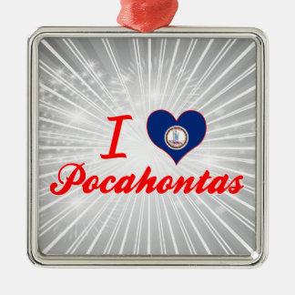 Amo Pocahontas, Virginia Adorno Navideño Cuadrado De Metal