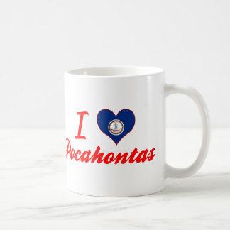 Amo Pocahontas, Virginia Taza Básica Blanca
