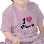 Amo poesía (del corazón) camisetas