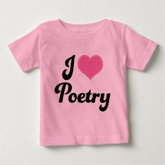 Amo poesía (del corazón) playera de bebé