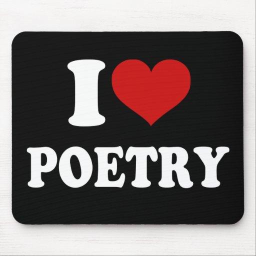 Amo poesía tapetes de raton