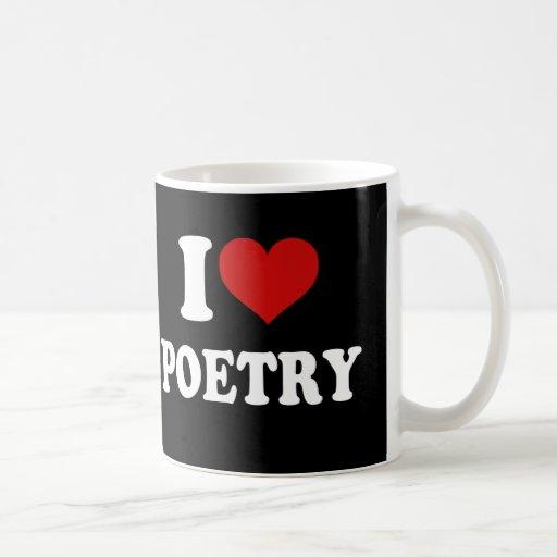 Amo poesía tazas de café