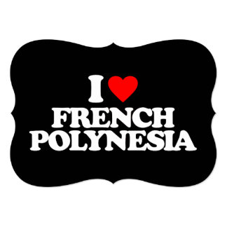 """AMO POLINESIA FRANCESA INVITACIÓN 5"""" X 7"""""""