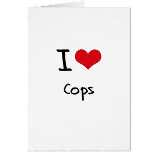 Amo polis tarjeta de felicitación