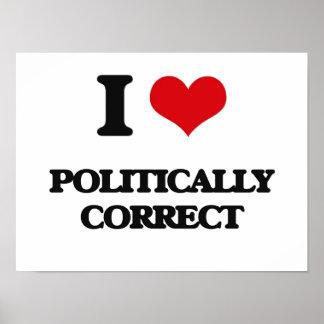 Amo político correcto póster