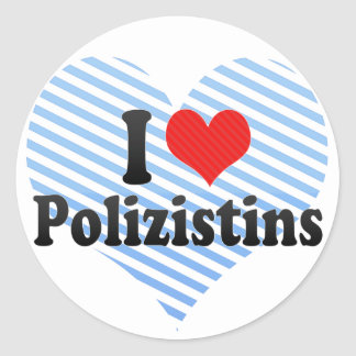 Amo Polizistins Pegatina Redonda