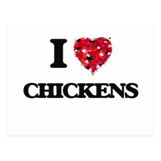 Amo pollos postales