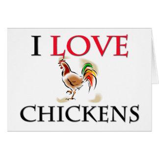 Amo pollos tarjetas