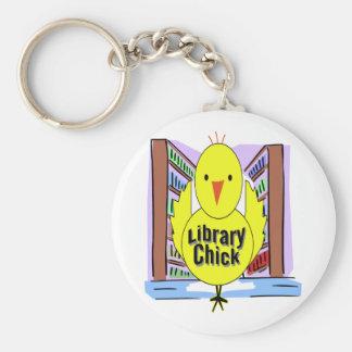 Amo polluelos de la biblioteca llaveros personalizados