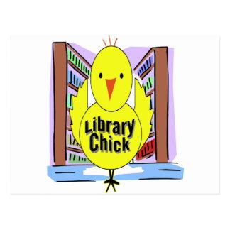Amo polluelos de la biblioteca postales