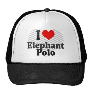 Amo polo del elefante gorro de camionero